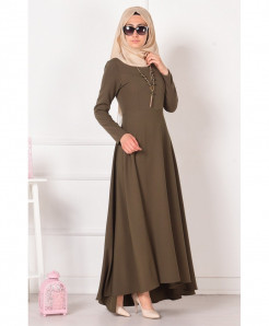 Coffee Brown Slim Fit Stylish Ladies Abaya FLK-330