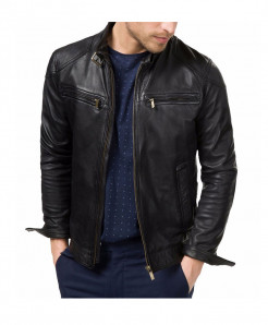 Black Sheep-Leather Jacket For Men SLL-05
