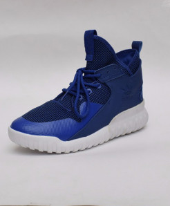Ink Blue High Ankle Laces Design Sport Shoes DR-173