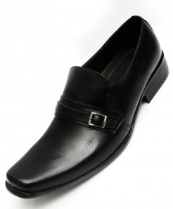 Black Leather Formal Shoes LC-534B