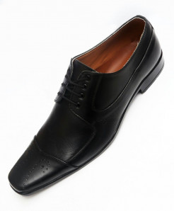 Black Leather Formal Shoes LC-556