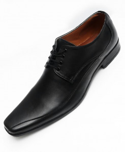 Black Leather Stylish Formal Shoes LC-554