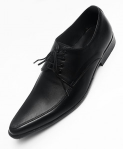Black Leather Stylish Formal Shoes LC-555