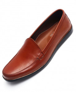Mustard Brown Leather Casual Shoes LC-0019