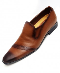 Mustard Brown Stylish Formal Shoes LC-5123