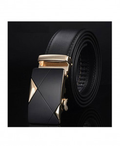 Designer Leather Strap Automatic Buckle Belts For Men