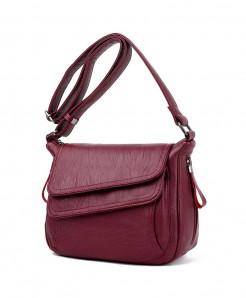 Kavard Maroon Leather Designer Handbag