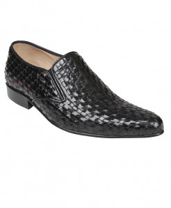 Black Woven Leather Shoes LC-AL-5028