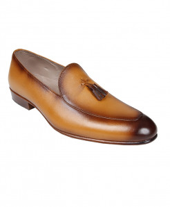 Tan Leather Loafer Shoes LC-AL-5030T