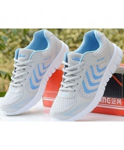 White Blue Trainers Sneakers Running Sport Shoes AT-5890