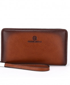 Luxury Male Leather Mens Clutch Wallet