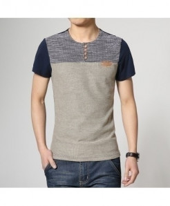 Fashion Patchwork Slim Fit T-Shirt AT-693