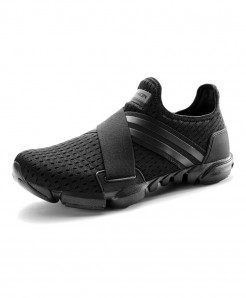 Black Breathable Sneakers Slip-on Fitness Shoes