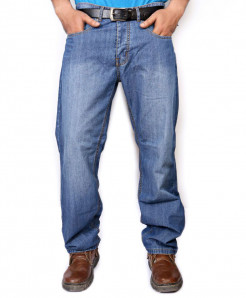 Light Blue Regular Fit Jeans PSM-061