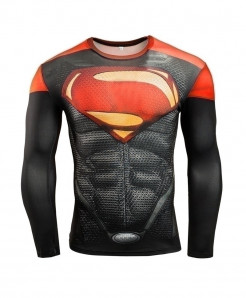 Man of Steel Long Sleeve Fitness T-Shirt