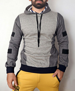 Heather Grey Charcoal Pull Over Hoodie ABSG-008