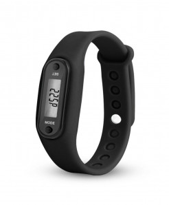 Rubber LCD Digital Calorie Pedometer Bracelet AT-582