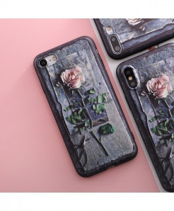 SoCouple Rose TPU case For iphone Ultra-Thin Scrub Silicone Phone Cases