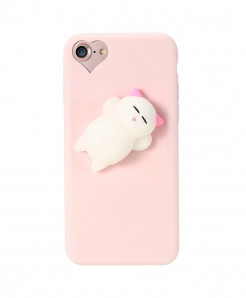 KISSCASE Pink Cartoon Cute Cat For iphone Silicon Case AT-481