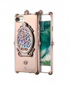 FLOVEME Rose Pink Diamond Mirror iPhone Back Cover