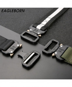 Black Canvas Melt Metal Insert Buckle Belt