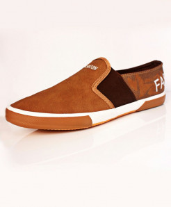 Mustard Slip On Stylish Sneaker Shoes DR-219