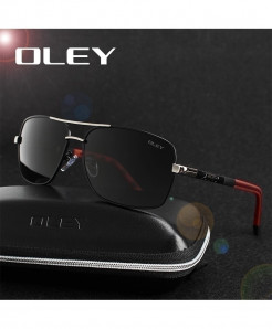 OLEY Red Black Polarized Sunglasses