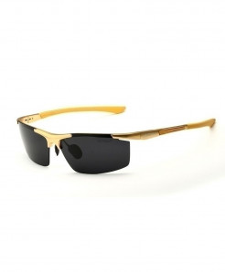 VEITHDIA Golden Black Shaded Polarized Sunglasses