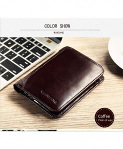 ManBang Coffee Leather Wallets