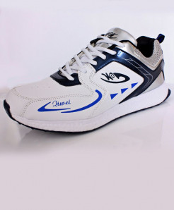 White Slate Blue Stripes Stylish Sports Shoes DR-304