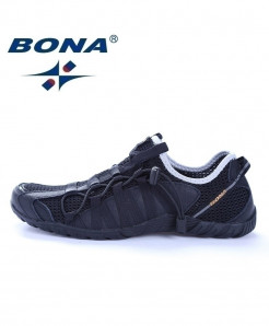 BONA Black Running Shoes