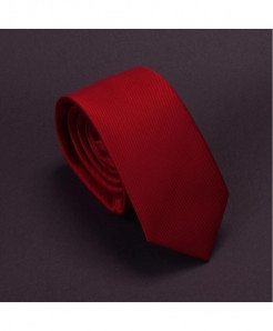 GUSLESON Red Micro Cross Lining Tie