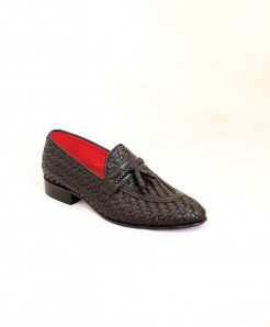Corio Black Tassel Leather Loafer CSR-JC-142