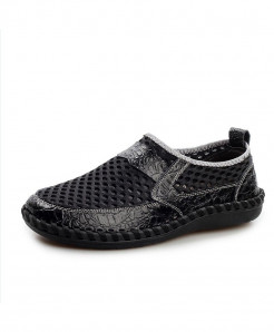 Black Breathable Mesh Shoes