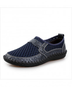 Navy Breathable Mesh Shoes
