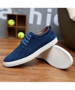 2d3ded8b274 Royal Blue Breathable Suede Canvas Leather Shoes