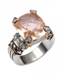 Morganite 925 Sterling Silver Ring