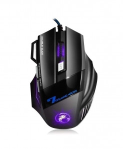Professional Wired Gaming Mouse 5500DPI Adjustable 7 Buttons Optical Gamer Mouse