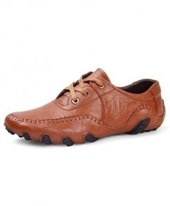 Times New Roman Brown Leather Shoes