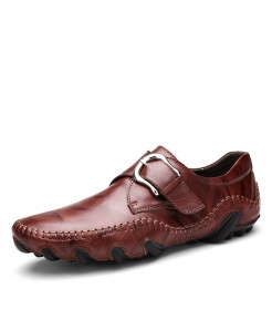Times New Roman Dark Brown Soft Leather Loafers