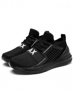 Bjakin Black Breathable Mesh Running Shoes