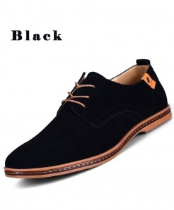 TOURSH Black Leather Shoes Casual