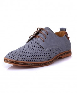 Grey Tangnest Breathable Suede Leather Shoes