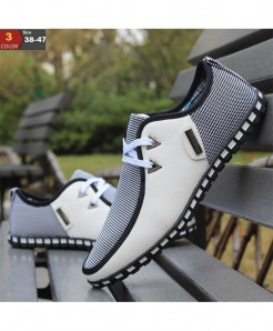White Italian Flat Casual Shoes