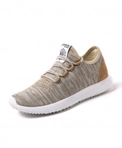 Golden Breathable Mesh Running Comfortable Shoes
