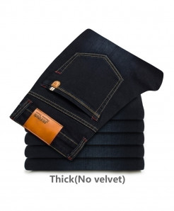 Flocking Soft Black Jeans