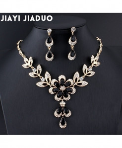Jiayijiaduo Black Jewelry Set