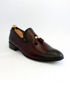 Corio Burgundy Leather Shoes JC-180