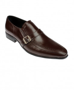 Choco Brown Leather Slip on Formal Shoes LC-402