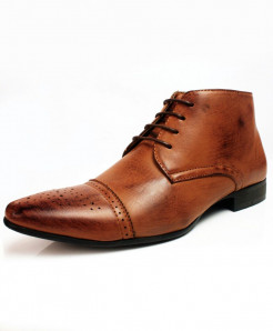 Faded Brown Lace up Design Stylish Formal Shoes CB-2166